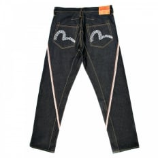 Dark Indigo Spiral Cut Raw Selvedge Denim Jeans