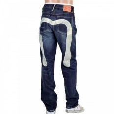 Dark Stonewash Jeans with Silver Diacock