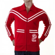 Early and Authentic Red Retro Track Jacket