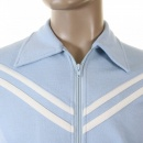 EVISU Early and Authentic Sky Blue Retro Track Jacket