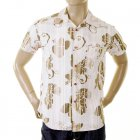 Early and Genuine Mens Short Sleeve Camel Floral Print Shirt