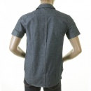 EVISU Early and Rare Mens Short Sleeve Blue Chambray Shirt