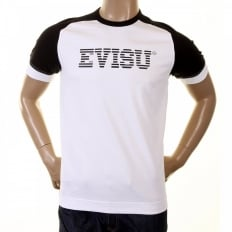 Early and Rare White with Black Short Sleeve T-Shirt