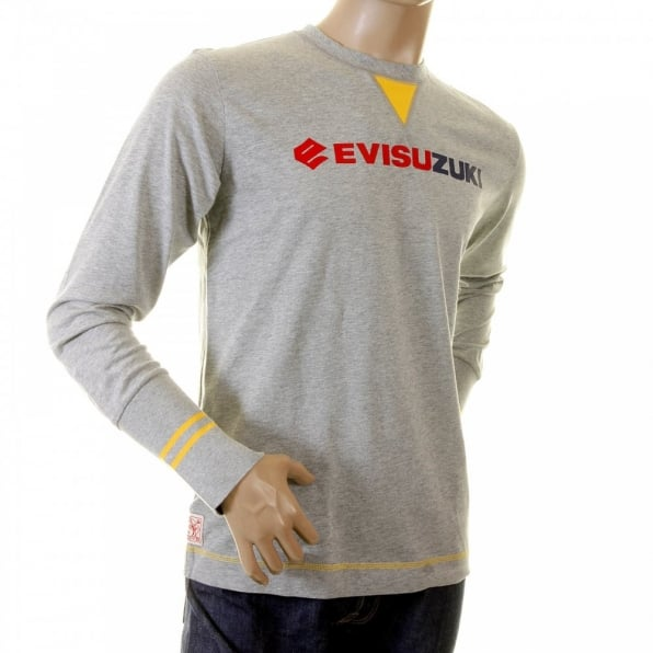 EVISU Early Original Grey EVISUZUKI long sleeve t shirt