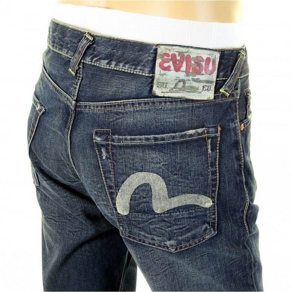 EVISU EU European edition Dark Denim jeans