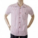 EVISU Genuine and Rare Mens Short Sleeve Checked Shirt