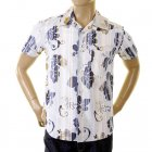 Genuine and Rare Mens Short Sleeve Ink Floral Print Shirt