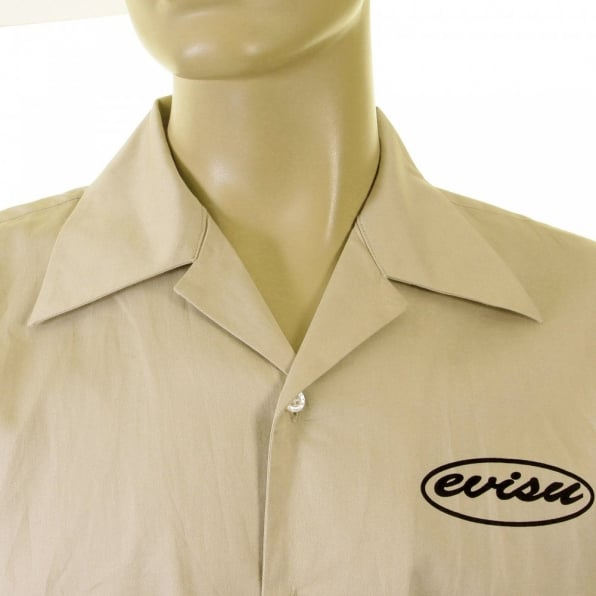 EVISU Genuine Short Sleeve Khaki Shirt