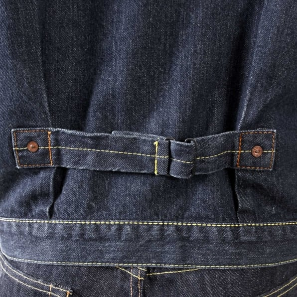 EVISU Genuine Two-Pocket Washed Denim Jacket
