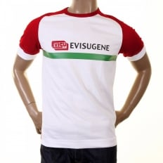 Genuine White with Red Short Sleeve T-Shirt