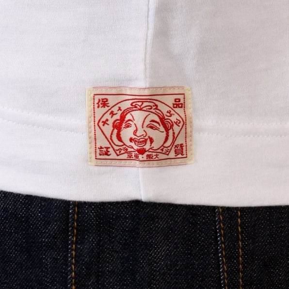 EVISU Genuine White with Red Short Sleeve T-Shirt