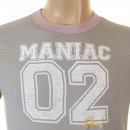EVISU Grey Original and Rare faux college Maniac cotton t shirt