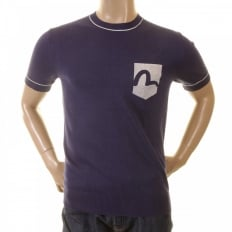 Ink Blue Logo Pocket printed T shirt for Men