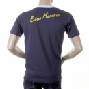 EVISU Ink Blue Rare panelled maniac t shirt