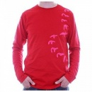 EVISU Long Sleeve EVISULUTION OSAKA Red T shirt