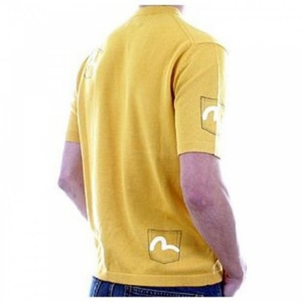EVISU Mens 5 pocket saffron knitted t shirt