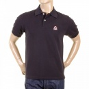 EVISU Mens Short Sleeve Black Polo Shirt