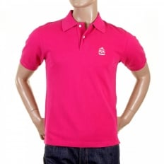 Mens Short Sleeve, Dark Pink polo Shirt
