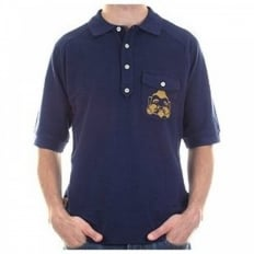 Navy Blue Regular Fit Pique Polo Shirt