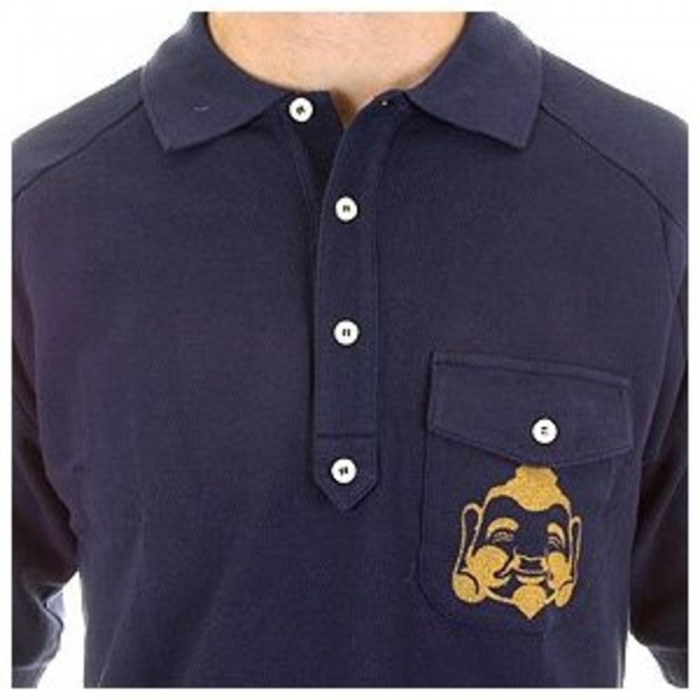 Navy blue pique polo shirt by evisu online at niro fashion for Navy blue shirt online