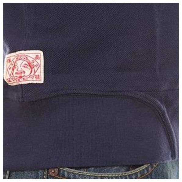 EVISU Navy Blue Regular Fit Pique Polo Shirt