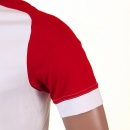 EVISU Original and Rare White with Red Short Sleeve T-Shirt