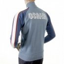 EVISU Original Azzure Blue Regular Fit Zipped Osaka Track Jacket