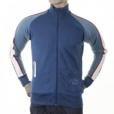 Original Ink Blue Collared Regular Fit Zipped Osaka Track Jacket