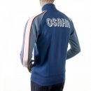EVISU Original Ink Blue Collared Regular Fit Zipped Osaka Track Jacket