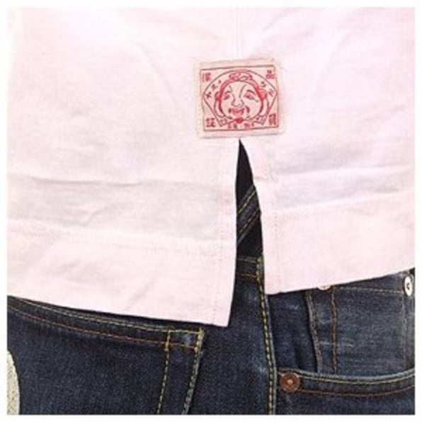 EVISU Pale Pink Regular Fit V Neck T-Shirt