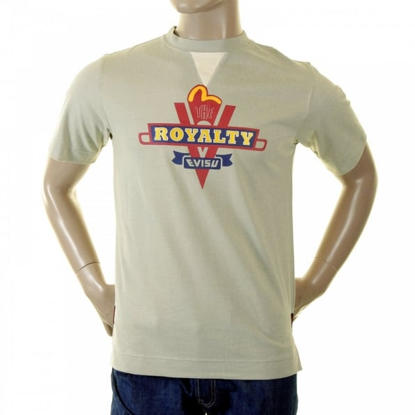 EVISU Putty royalty logo t shirt