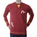 EVISU Rare and Authentic Brick Red Long Sleeve Five Pocket T shirt
