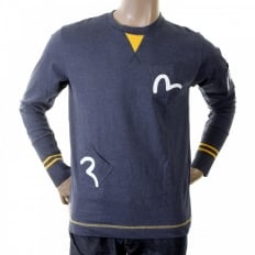 Rare and Authentic Ink Blue Long Sleeve Five Pocket T Shirt