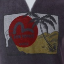EVISU Rare and Genuine Ink Blue BON VOYAGE Print T Shirt