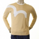 EVISU Rare and Original Camel Coloured Long Sleeve T Shirt