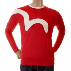 Rare and Original Flame Red Long Sleeve T Shirt