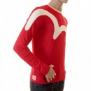 EVISU Rare and Original Flame Red Long Sleeve T Shirt