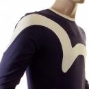 EVISU Rare and Original Ink Blue Long Sleeve T Shirt