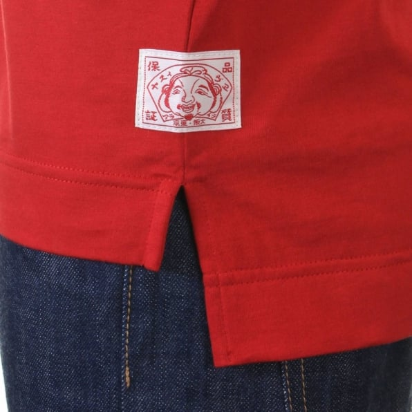 EVISU Rare and Original Red Short Sleeve T-Shirt