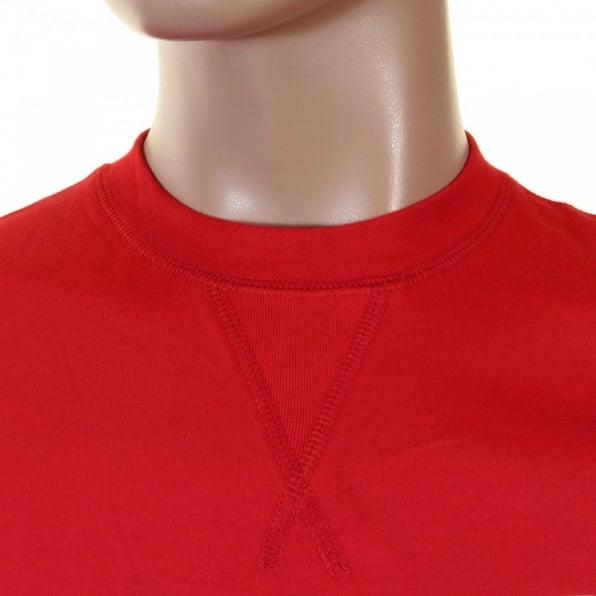 EVISU Rare and Original Red Short Sleeve T-Shirt