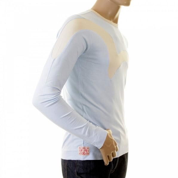EVISU Rare and Original Sky Blue  Long Sleeve T Shirt