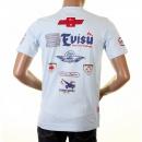 EVISU Rare and Original Sky Blue Motor Sponsor T-Shirt
