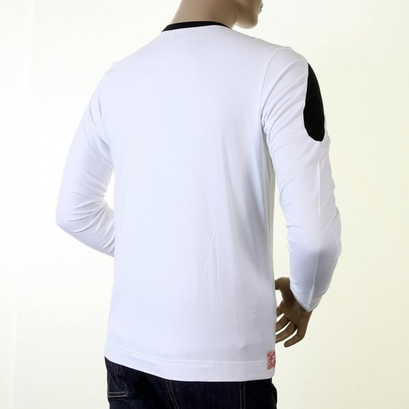 EVISU Rare and Original White Long Sleeve T Shirt