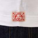 EVISU Rare and Original White with Ink Blue T-Shirt