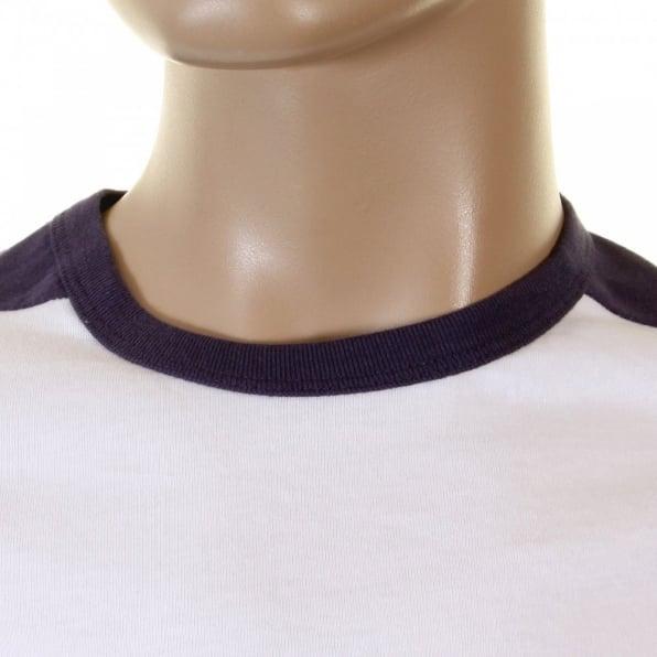 EVISU Rare and Original White with Ink Blue T-Shirt