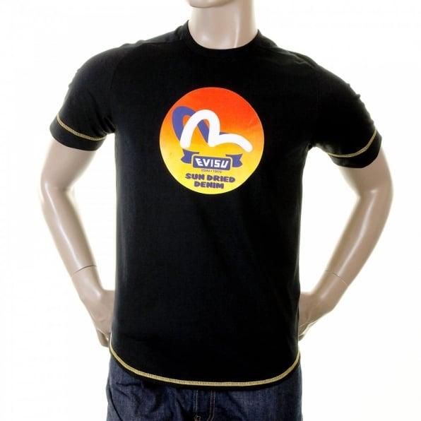 9b4405db7b Look Trendy with Mens Black T Shirt by Evisu UK