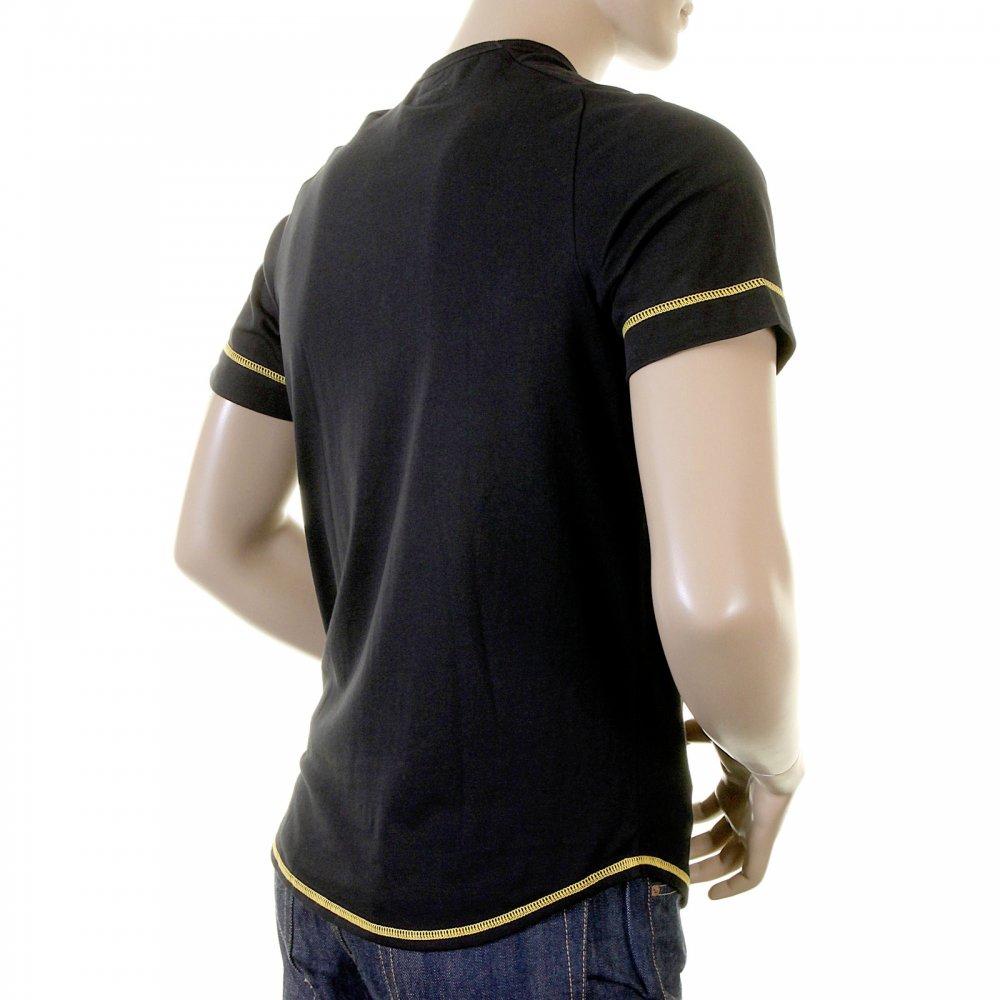 e2756b729a EVISU Rare Black T-Shirt with SUN DRIED DENIM Logo ...