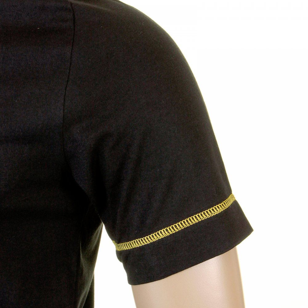 67182d51d9 ... EVISU Rare Black T-Shirt with SUN DRIED DENIM Logo ...