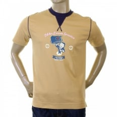 Rare Camel Coloured T-Shirt with 24 HOUR LOOM SERVICE Design