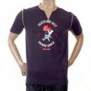 EVISU Rare Denim Dinner Print T shirt